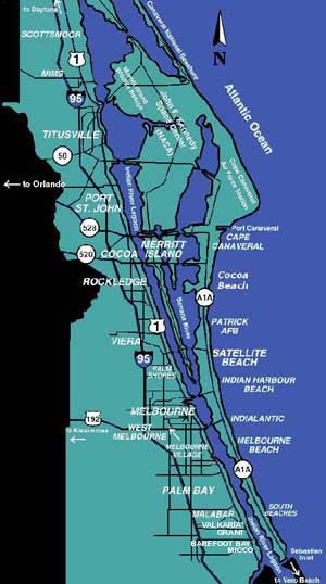 Florida : Brevard County Real Estate & Homes for Sale.  |Brevard County Area Map